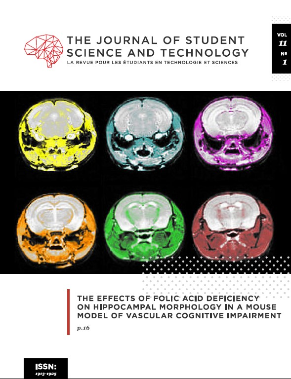 Journal of Student Science and Technology Vol 11, No 1 (2019)